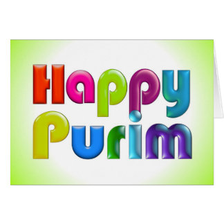 HAPPY PURIM funky Greeting Card
