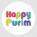 HAPPY PURIM funky Greeting Card Stickers