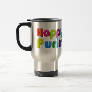 HAPPY PURIM funky Travel Mug / Commuter Mug