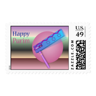 Happy Purim Postage Stamp