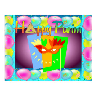 Happy Purim Postcard