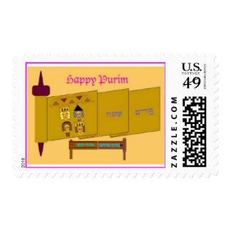 Happy Purim stamp
