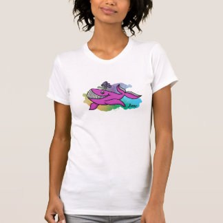 Happy Purple Grinning Whale T-Shirt
