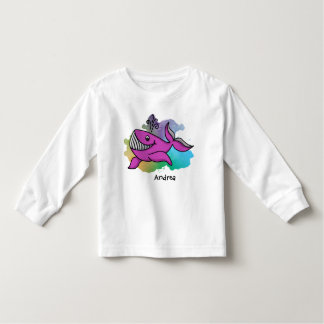Happy Purple Grinning Whale Toddler T-shirt