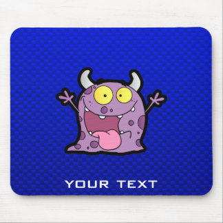 Happy Purple Monster; Blue Mouse Pad