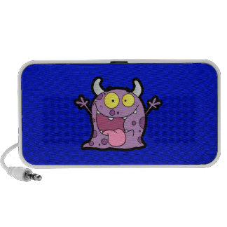 Happy Purple Monster; Blue Laptop Speakers