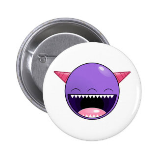 Happy Purple Monster Buttons