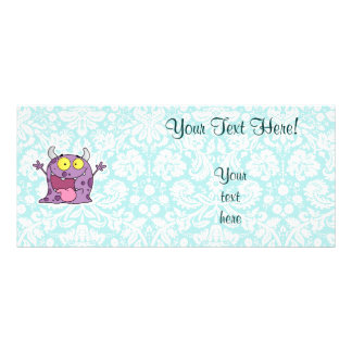 Happy Purple Monster; Cute Rack Card