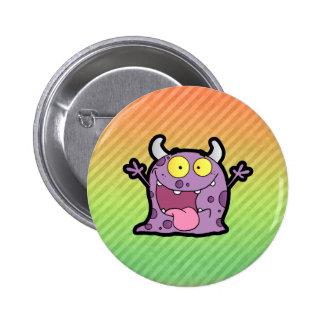Happy Purple Monster design Buttons