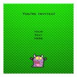 Happy Purple Monster; Green Invite