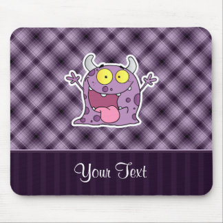 Happy Purple Monster; Purple Mouse Pad