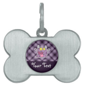 Happy Purple Monster; Purple Pet Tag