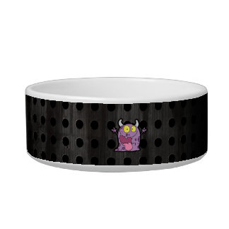 Happy Purple Monster; Rugged Pet Water Bowl
