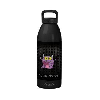 Happy Purple Monster; Rugged Reusable Water Bottle
