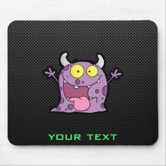 Happy Purple Monster; Sleek Mouse Pad