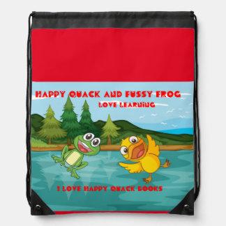 Happy Quack Drawstring Backpack