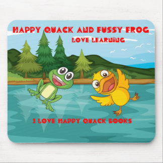 Happy Quack & Fussy Frog Mouse Pad