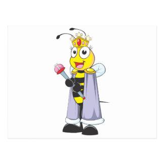 Happy Queen Bee with Queen Clothing Postcards