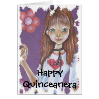 HAPPY QUINCENERA GREETING CARD