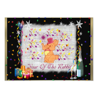 Happy Rabbit Year 5x7 Paper Invitation Card