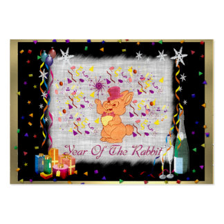 Happy Rabbit Year Large Business Card
