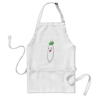 Happy Radish Vegetable Cartoon Adult Apron