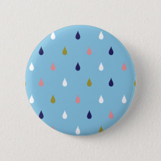 Happy rain drops pinback button