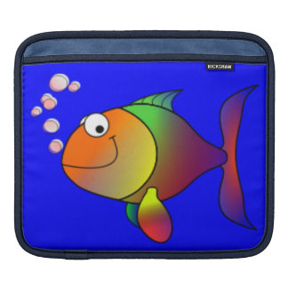 Happy Rainbow Fish iPad Sleeve