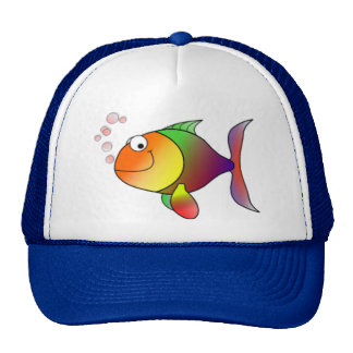 Happy Rainbow Fish Trucker Hat