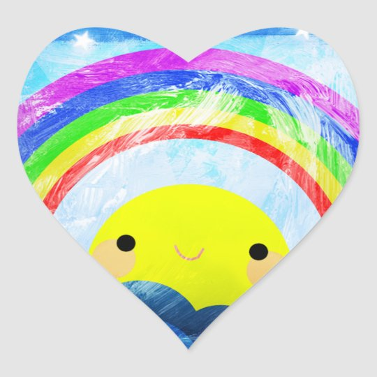 Happy Rainbow Heart Sticker