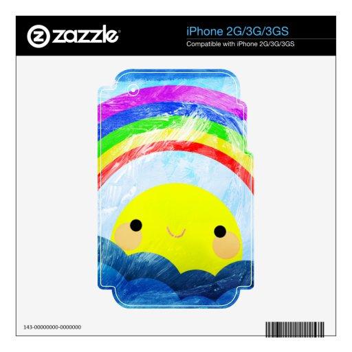 Happy Rainbow iPhone 3G Decal