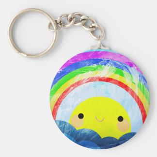 Happy Rainbow Keychain