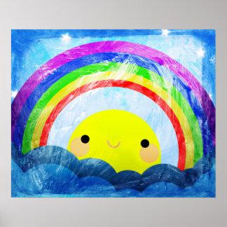 Happy Rainbow Poster