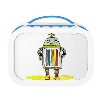 Happy Rainbow Robot Lunch Box