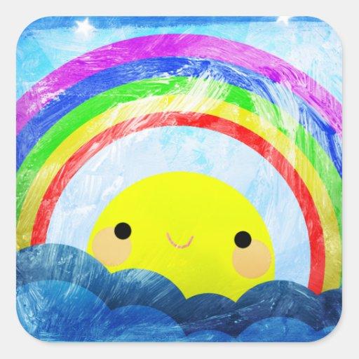 Happy Rainbow Sticker