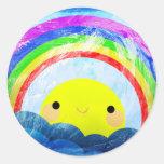 Happy Rainbow Stickers
