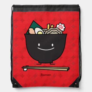 Happy Ramen Bowl Drawstring Bag