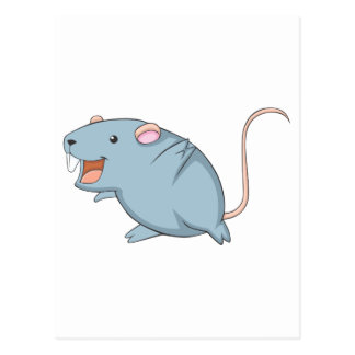 Happy Rat Postcard