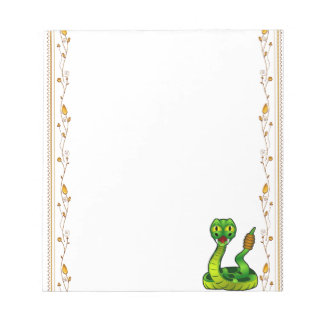 Happy rattlesnake notepad