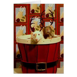 Happy Ratty-mas! Greeting Card