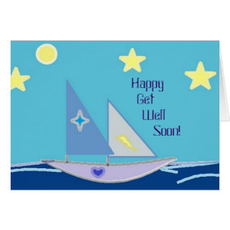 Happy Recovery Sailboat Card