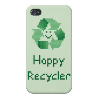Happy Recycler Cover For iPhone 4
