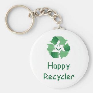 Happy Recycler Keychain
