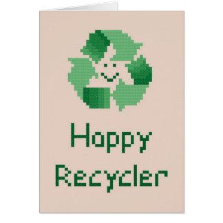 Happy Recycler Notecard