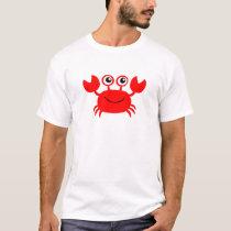 Happy Red Cartoon Crab T-Shirt