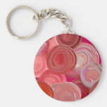 Happy Red Circles Keychain