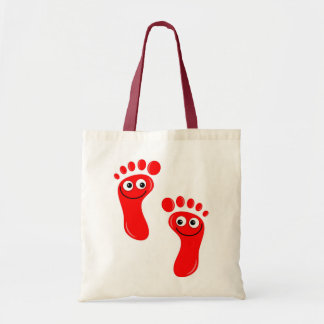 Happy Red Feet Budget Tote Bag