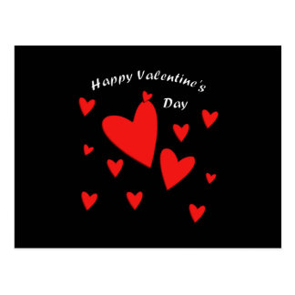 Happy Red Hearts Postcard