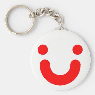 Happy red keychain