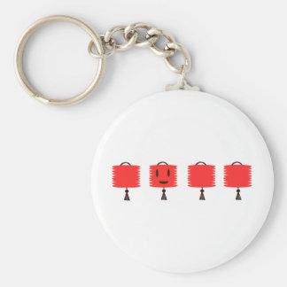 Happy Red Lanterns Basic Round Button Keychain